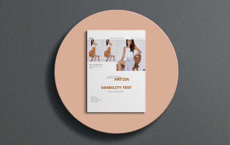 Aritzia - UX Usability test preview.