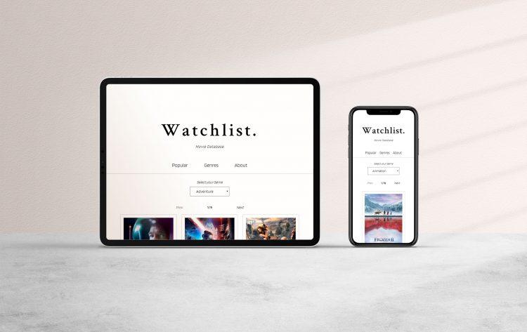 Watchlist - dynamic movie database.