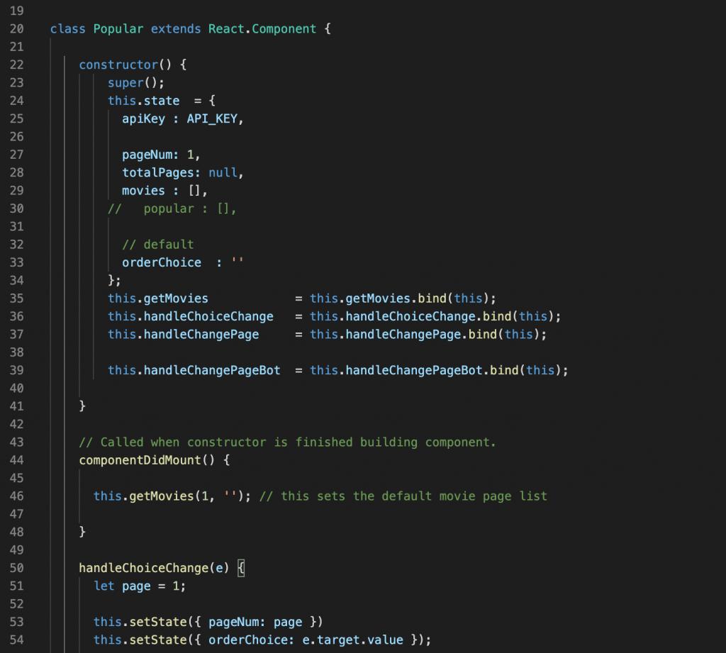 React - component setup.